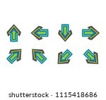 symbol arrow icon mobile  sign... | Shutterstock .eps vector #1115418686