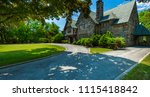 luxury house in the suburbs of... | Shutterstock . vector #1115418842