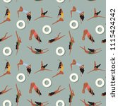 summer swimmers pattern  exotic ... | Shutterstock .eps vector #1115424242