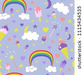 children sweet pattern with... | Shutterstock .eps vector #1115434535