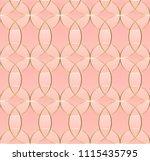 illustration  gold line... | Shutterstock .eps vector #1115435795