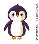 cartoon penguin icon. vector... | Shutterstock .eps vector #1115438426