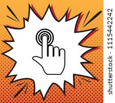 hand click on button. vector....   Shutterstock .eps vector #1115442242