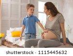 adorable mother. sweet adorable ... | Shutterstock . vector #1115445632