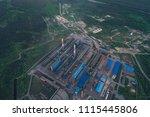 aluminum metallurgical plant... | Shutterstock . vector #1115445806