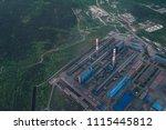 aluminum metallurgical plant... | Shutterstock . vector #1115445812