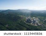 aluminum metallurgical plant... | Shutterstock . vector #1115445836