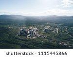 aluminum metallurgical plant... | Shutterstock . vector #1115445866