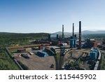 aluminum metallurgical plant... | Shutterstock . vector #1115445902