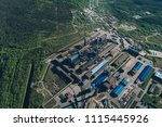 aluminum metallurgical plant... | Shutterstock . vector #1115445926