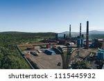 aluminum metallurgical plant... | Shutterstock . vector #1115445932