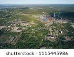 aluminum metallurgical plant... | Shutterstock . vector #1115445986