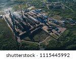 aluminum metallurgical plant... | Shutterstock . vector #1115445992