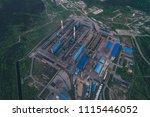 aluminum metallurgical plant... | Shutterstock . vector #1115446052
