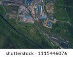 aluminum metallurgical plant... | Shutterstock . vector #1115446076