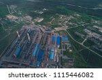 aluminum metallurgical plant... | Shutterstock . vector #1115446082