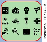 simple 12 icon set of business...