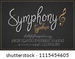 symphony. vector vintage... | Shutterstock .eps vector #1115454605