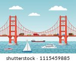 vector illustration. landscape... | Shutterstock .eps vector #1115459885