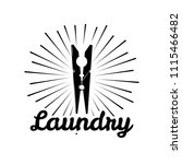 clothes pin icon. the laundry... | Shutterstock .eps vector #1115466482