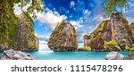 scenic phuket landscape.... | Shutterstock . vector #1115478296