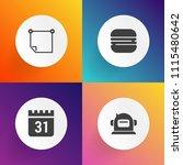 modern  simple vector icon set... | Shutterstock .eps vector #1115480642