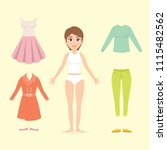 character design woman with... | Shutterstock .eps vector #1115482562