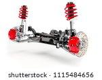 3d car suspension  on white...   Shutterstock . vector #1115484656
