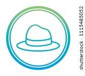 degraded line elegant hat man... | Shutterstock .eps vector #1115485052