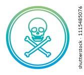 degraded line danger skull... | Shutterstock .eps vector #1115485076