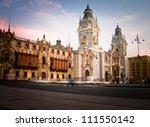plaza de armas in lima  peru | Shutterstock . vector #111550142