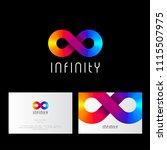 infinity logo  like rainbow... | Shutterstock .eps vector #1115507975