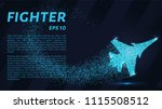 fighter of the particles. the... | Shutterstock .eps vector #1115508512