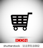 shopping icon vector  vector...
