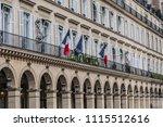 paris  france   june 11  2018 ... | Shutterstock . vector #1115512616