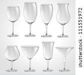 high quality glasses set vector ... | Shutterstock .eps vector #111551972