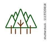pine tree icon. green pine tree ...   Shutterstock .eps vector #1115520818