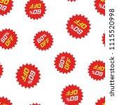 discount sticker icon seamless...   Shutterstock .eps vector #1115520998