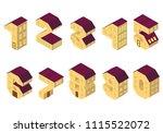 vector isometric vector numbers ... | Shutterstock .eps vector #1115522072