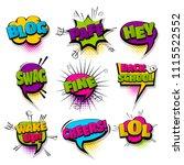 hey blog lol fine set hand... | Shutterstock .eps vector #1115522552