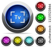 camera time value mode icons in ... | Shutterstock .eps vector #1115523866