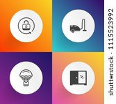 modern  simple vector icon set... | Shutterstock .eps vector #1115523992