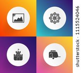 modern  simple vector icon set... | Shutterstock .eps vector #1115524046