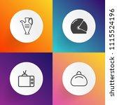 modern  simple vector icon set... | Shutterstock .eps vector #1115524196