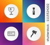 modern  simple vector icon set... | Shutterstock .eps vector #1115524202