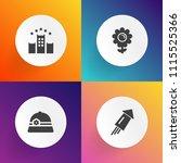 modern  simple vector icon set... | Shutterstock .eps vector #1115525366