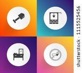 modern  simple vector icon set... | Shutterstock .eps vector #1115525456