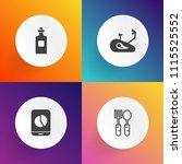 modern  simple vector icon set... | Shutterstock .eps vector #1115525552