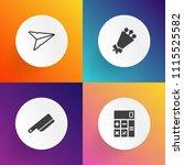modern  simple vector icon set... | Shutterstock .eps vector #1115525582