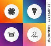 modern  simple vector icon set... | Shutterstock .eps vector #1115528486